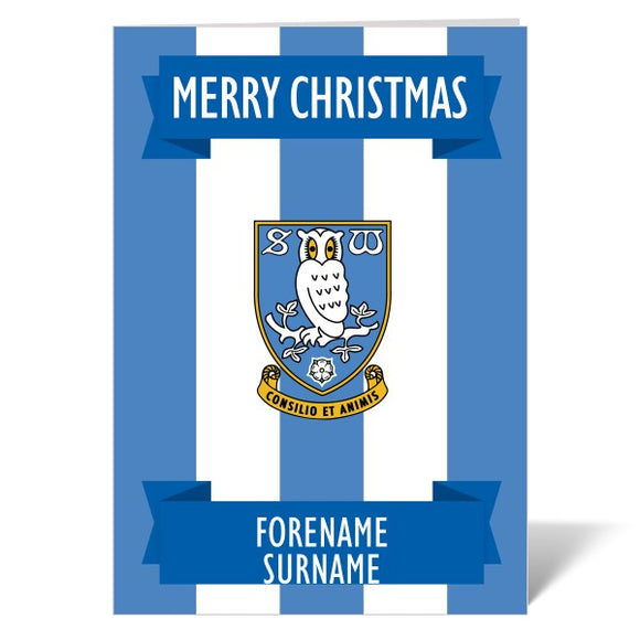 Sheffield Wednesday FC Crest Christmas Card-Poppy Stop-ITP_GC_A4_UK-Poppy Stop