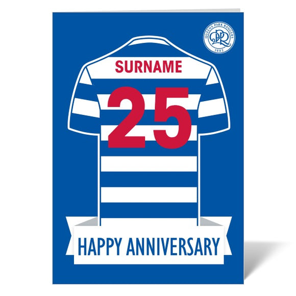 Queens Park Rangers FC Shirt Anniversary Card-Poppy Stop-ITP_GC_A4_UK-Poppy Stop