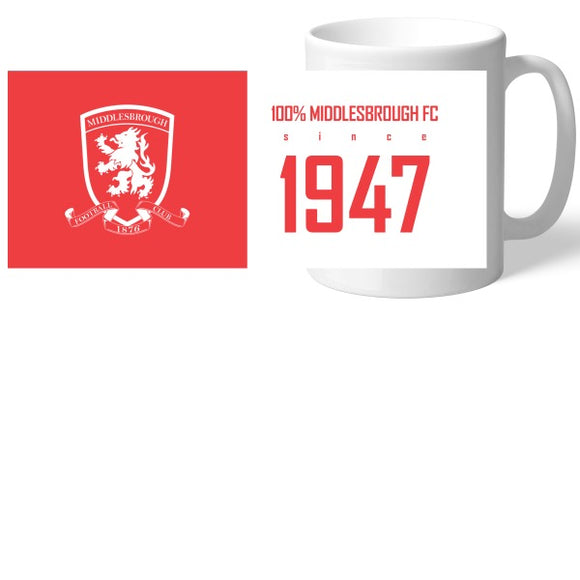 Middlesbrough FC 100 Percent Mug-Poppy Stop-Poppy Stop