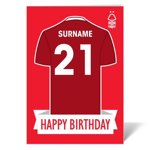 Nottingham Forest FC Shirt Birthday Card-Poppy Stop-ITP_GC_A4_UK-Poppy Stop