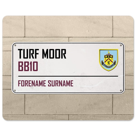 Burnley FC Street Sign Mouse Mat-Poppy Stop-Poppy Stop
