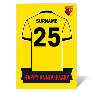 Watford FC Shirt Anniversary Card-Poppy Stop-ITP_GC_A4_UK-Poppy Stop