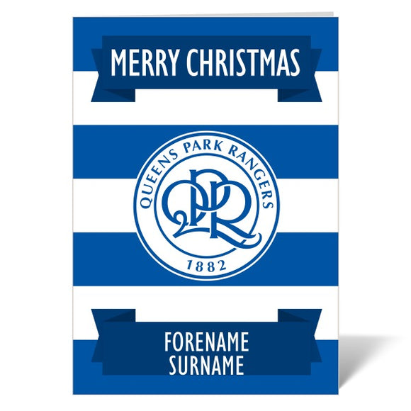Queens Park Rangers FC Crest Christmas Card-Poppy Stop-ITP_GC_A4_UK-Poppy Stop