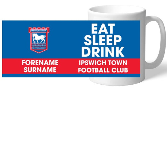 Ipswich Town FC Eat Sleep Drink Mug-Poppy Stop-Poppy Stop
