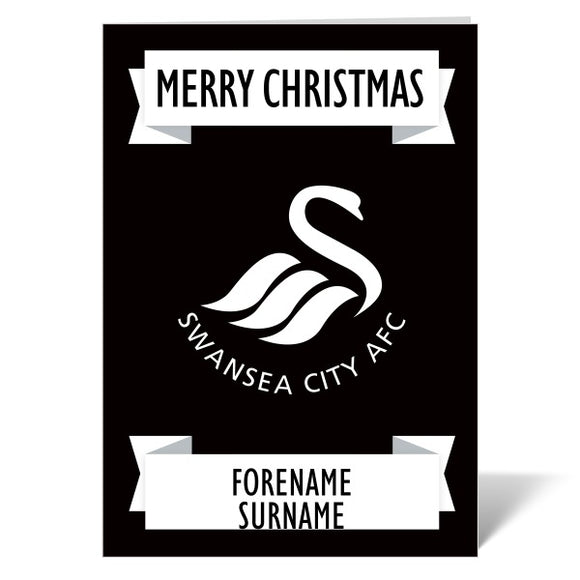 Swansea City AFC Crest Christmas Card-Poppy Stop-ITP_GC_A4_UK-Poppy Stop