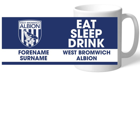 West Bromwich Albion FC Eat Sleep Drink Mug-Poppy Stop-Poppy Stop
