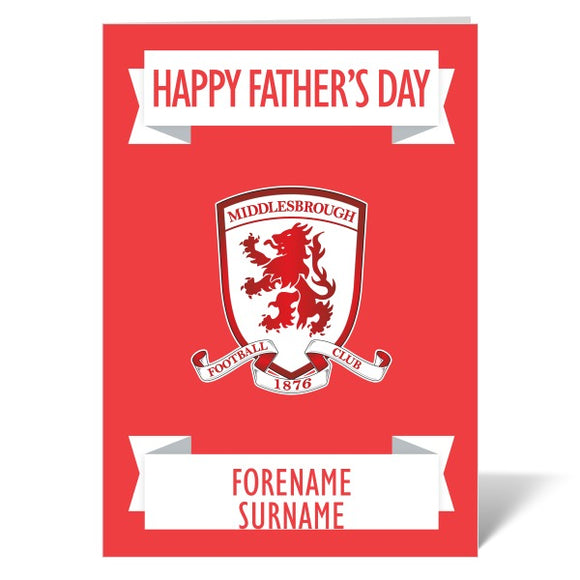 Middlesbrough FC Crest Father's Day Card-Poppy Stop-ITP_GC_A4_UK-Poppy Stop