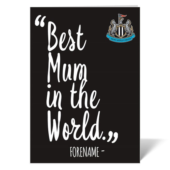 Newcastle United FC Best Mum In The World Card-Poppy Stop-Poppy Stop