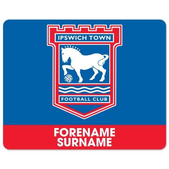 Ipswich Town FC Bold Crest Mouse Mat-Poppy Stop-Poppy Stop