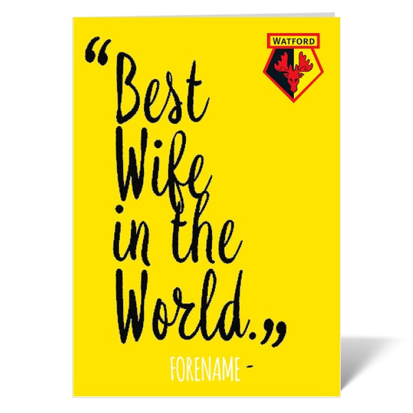 Watford FC Best Wife In The World Card-Poppy Stop-ITP_GC_A4_UK-Poppy Stop