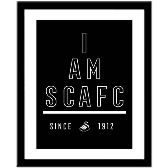 Swansea City AFC I Am Print-Poppy Stop-Poppy Stop