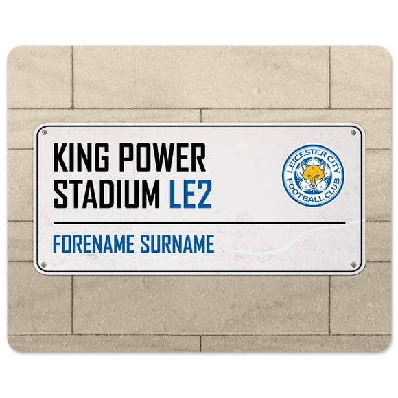 Leicester City FC Street Sign Mouse Mat-Poppy Stop-Poppy Stop