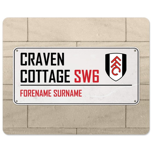 Fulham FC Street Sign Mouse Mat-Poppy Stop-Poppy Stop