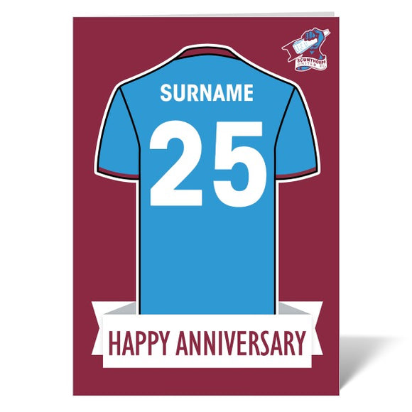 Scunthorpe United FC Shirt Anniversary Card-Poppy Stop-ITP_GC_A4_UK-Poppy Stop