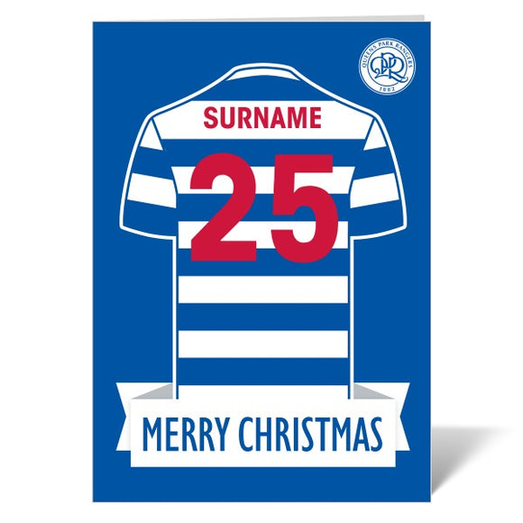 Queens Park Rangers FC Shirt Christmas Card-Poppy Stop-ITP_GC_A4_UK-Poppy Stop
