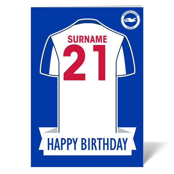 Brighton & Hove Albion FC Shirt Birthday Card-Poppy Stop-ITP_GC_A4_UK-Poppy Stop