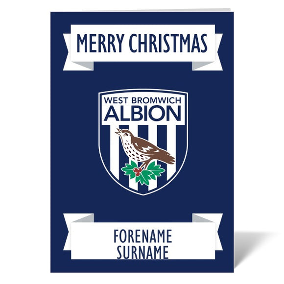 West Bromwich Albion FC Crest Christmas Card-Poppy Stop-ITP_GC_A4_UK-Poppy Stop