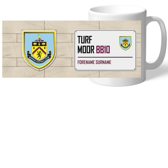 Burnley FC Street Sign Mug-Poppy Stop-Poppy Stop