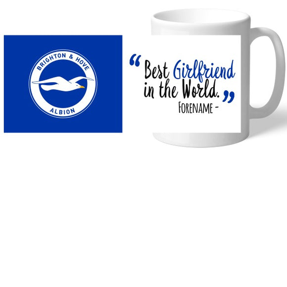 Brighton and Hove Albion Best Girlfriend In The World Mug-Poppy Stop-Poppy Stop