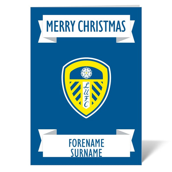 Leeds United FC Crest Christmas Card-Poppy Stop-ITP_GC_A4_UK-Poppy Stop