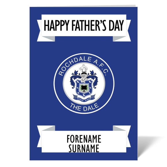 Rochdale AFC Crest Father's Day Card-Poppy Stop-ITP_GC_A4_UK-Poppy Stop