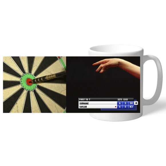 Personalised Darts Mug-Poppy Stop-Poppy Stop