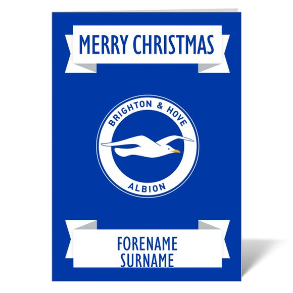 Brighton & Hove Albion FC Crest Christmas Card-Poppy Stop-ITP_GC_A4_UK-Poppy Stop