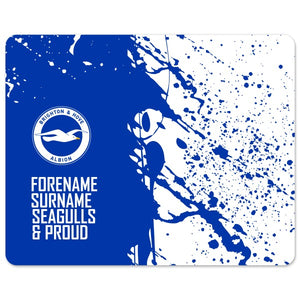 Brighton & Hove Albion FC Proud Mouse Mat-Poppy Stop-Poppy Stop