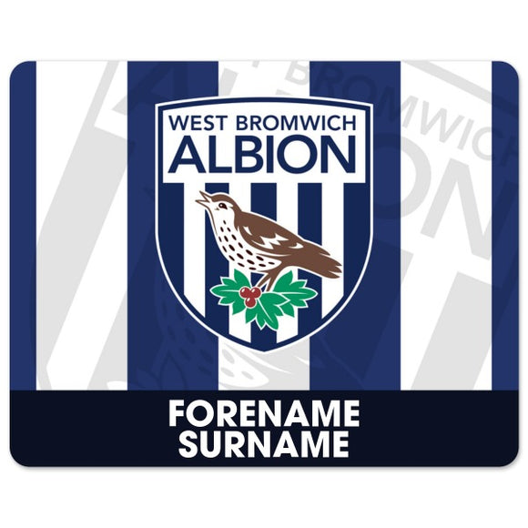 West Bromwich Albion FC Bold Crest Mouse Mat-Poppy Stop-Poppy Stop