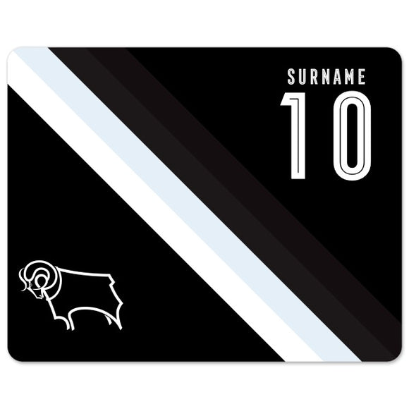 Derby County Stripe Mouse Mat-Poppy Stop-Poppy Stop