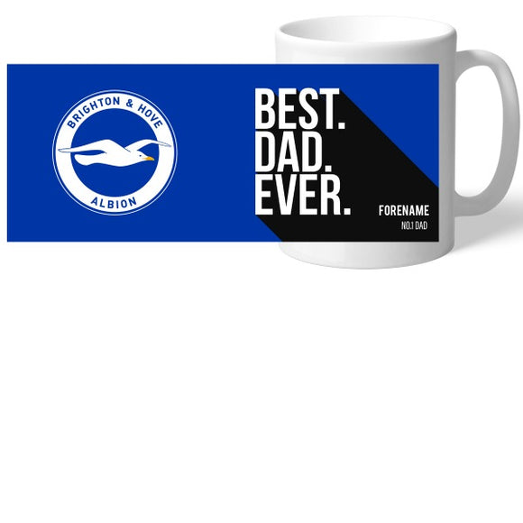 Brighton and Hove Albion Best Dad Ever Mug-Poppy Stop-Poppy Stop