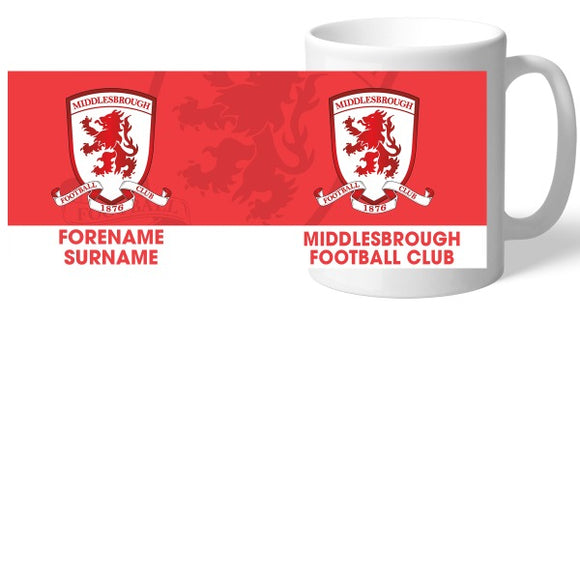 Middlesbrough Bold Crest Mug-Poppy Stop-Poppy Stop