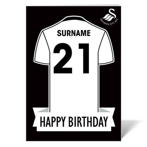 Swansea City AFC Shirt Birthday Card-Poppy Stop-ITP_GC_A4_UK-Poppy Stop
