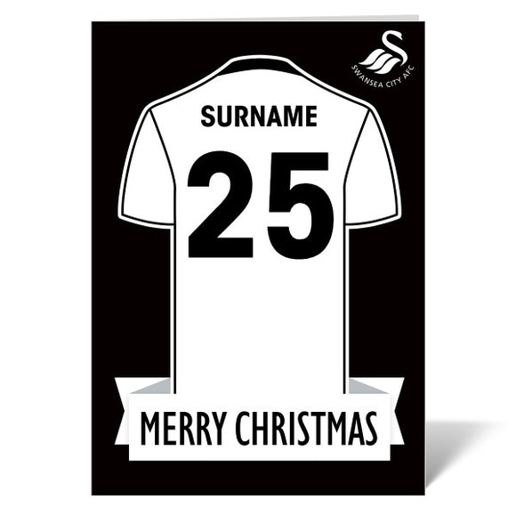 Swansea City AFC Shirt Christmas Card-Poppy Stop-ITP_GC_A4_UK-Poppy Stop