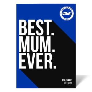 Brighton & Hove Albion FC Best Mum Ever Card-Poppy Stop-ITP_GC_A4_UK-Poppy Stop