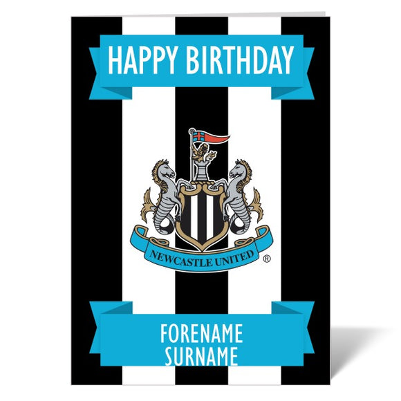 Newcastle United FC Crest Birthday Card-Poppy Stop-Poppy Stop