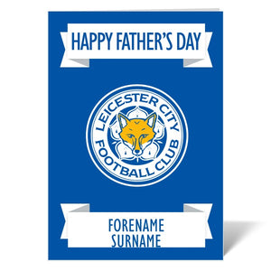 Leicester City FC Crest Father's Day Card-Poppy Stop-ITP_GC_A4_UK-Poppy Stop