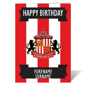 Sunderland AFC Crest Birthday Card-Poppy Stop-ITP_GC_A4_UK-Poppy Stop
