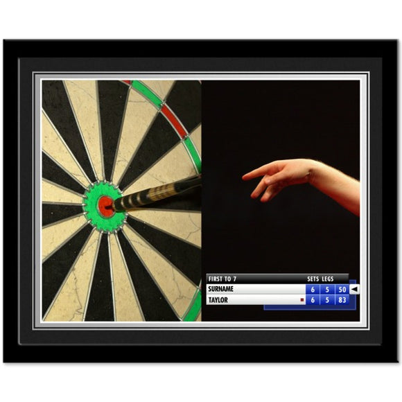 Personalised Darts Photo Frame-Poppy Stop-Poppy Stop