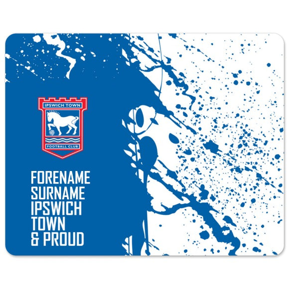 Ipswich Town FC Proud Mouse Mat-Poppy Stop-Poppy Stop