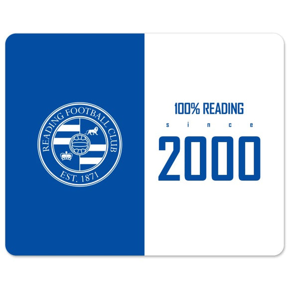Reading FC 100 Percent Mouse Mat-Poppy Stop-Poppy Stop