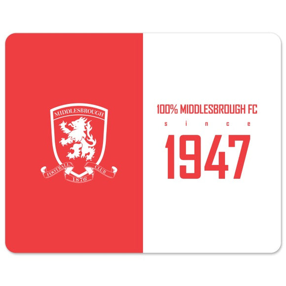 Middlesbrough FC 100 Percent Mouse Mat-Poppy Stop-Poppy Stop