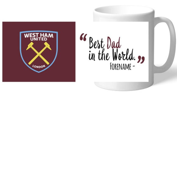 West Ham United FC Best Dad In The World Mug-Poppy Stop-Poppy Stop