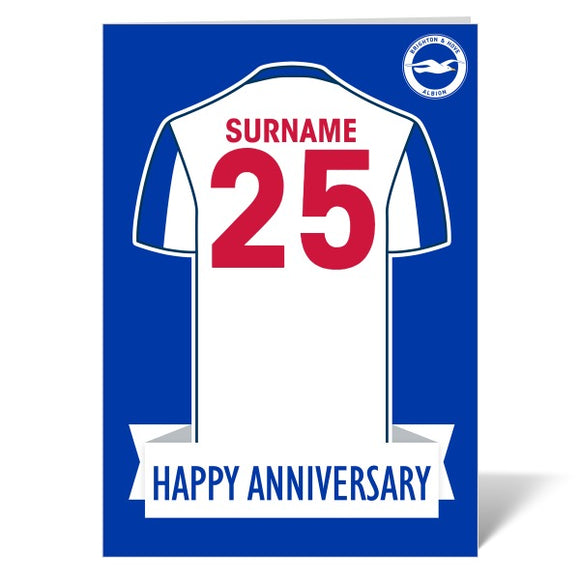 Brighton & Hove Albion FC Shirt Anniversary Card-Poppy Stop-ITP_GC_A4_UK-Poppy Stop