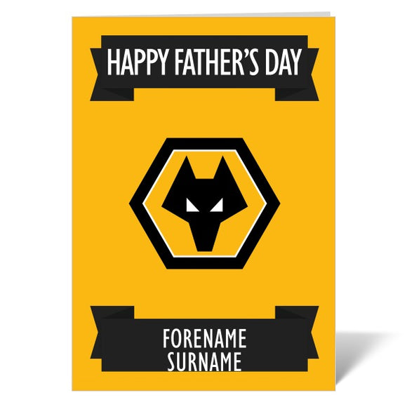 Wolves Crest Father's Day Card-Poppy Stop-ITP_GC_A4_UK-Poppy Stop