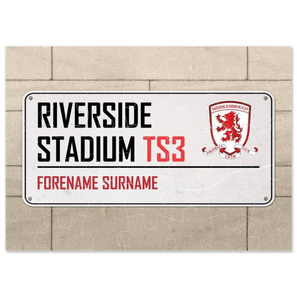 Middlesbrough FC Street Sign Jigsaw-Poppy Stop-Poppy Stop