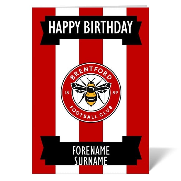 Brentford FC Crest Birthday Card-Poppy Stop-ITP_GC_A4_UK-Poppy Stop