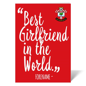 Southampton FC Best Girlfriend In The World Card-Poppy Stop-ITP_GC_A4_UK-Poppy Stop