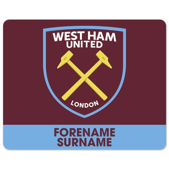 West Ham United FC Bold Crest Mouse Mat-Poppy Stop-Poppy Stop