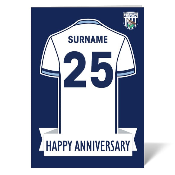 West Bromwich Albion FC Shirt Anniversary Card-Poppy Stop-ITP_GC_A4_UK-Poppy Stop